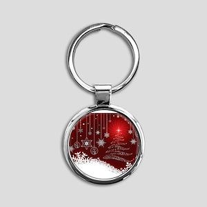 Decorative Christmas Ornamental Snowflak Keychains