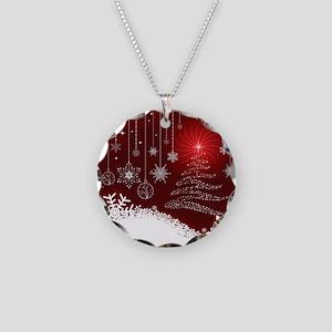 Decorative Christmas Ornamen Necklace Circle Charm