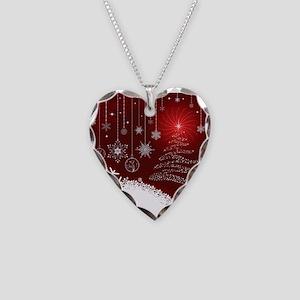Decorative Christmas Ornament Necklace Heart Charm