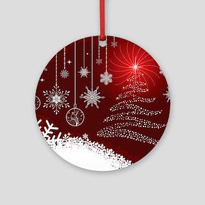 Decorative Christmas Ornamental Sno Round Ornament