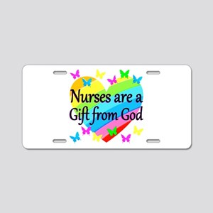 PRAY FOR NURSES Aluminum License Plate
