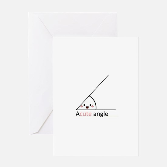 Acute Angle Greeting Cards