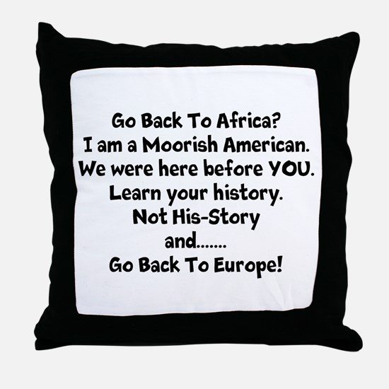 Go Back To Africa Throw Pillow