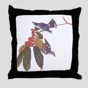 Cerulean Warbler Vintage Audubon Birds Throw Pillo