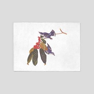 Cerulean Warbler Vintage Audubon Birds 5'x7'Area R