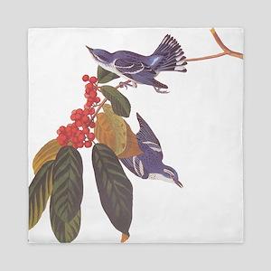 Cerulean Warbler Vintage Audubon Birds Queen Duvet