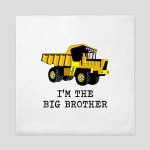 Im the Big Brother Dump Truck Queen Duvet