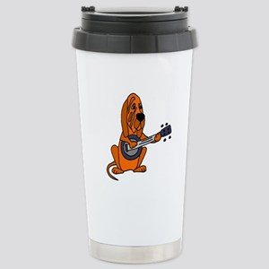 Bloodhound Playing Banj Stainless Steel Travel Mug