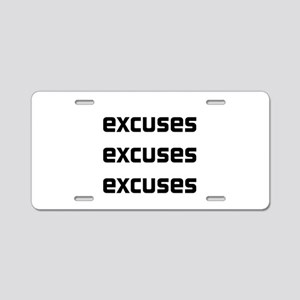 Homework excuses Aluminum License Plate