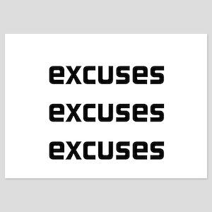 Homework excuses 5x7 Flat Cards