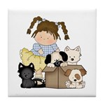 Puppy Dog Friends Tile Coaster