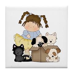 Puppy Dog Friends Tile Coaster