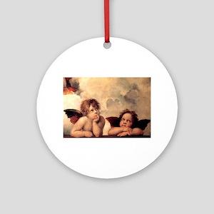 Cherubim - Raphael Round Ornament