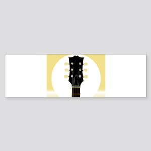 Guitar Headstock And Tuners Bumper Sticker