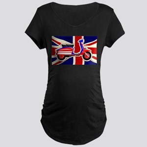 60s Motor Scooter Over Union Jac Maternity T-Shirt