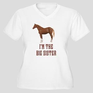 I'm the big siste Women's Plus Size V-Neck T-Shirt