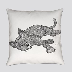 Winking Cat Everyday Pillow