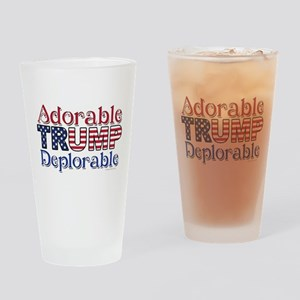 Adorable Trump Deplorable Drinking Glass