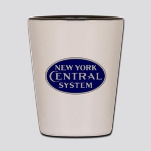 New York Central System logo - blue Shot Glass