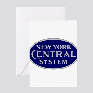 New York Central System logo - blue Greeting Cards
