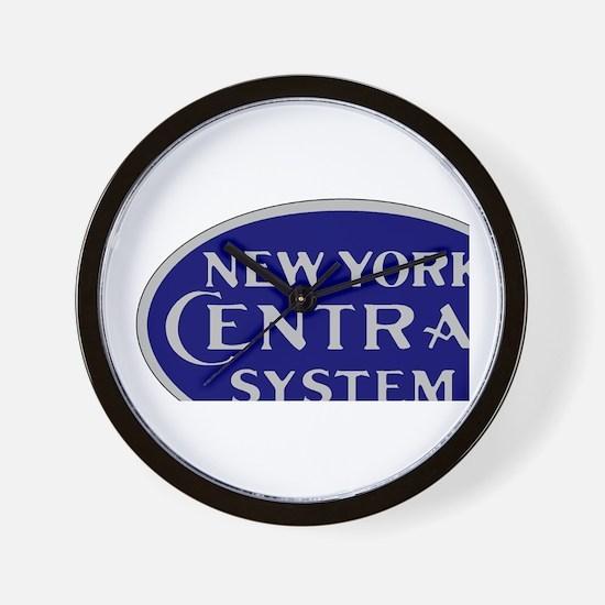 New York Central System logo - blue Wall Clock