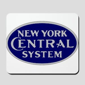New York Central System logo - blue Mousepad