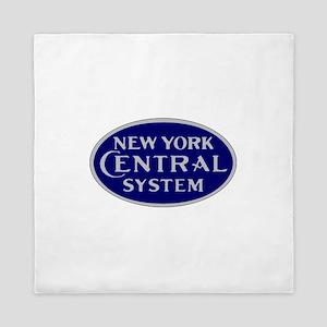 New York Central System logo - blue Queen Duvet