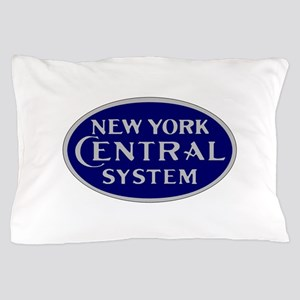 New York Central System logo - blue Pillow Case