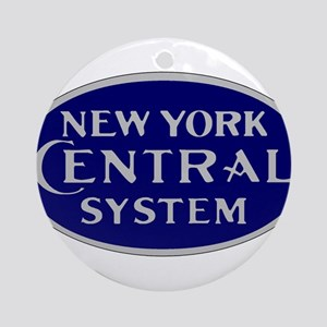 New York Central System logo - blue Round Ornament