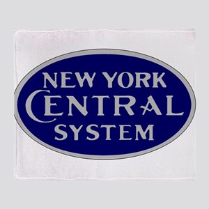 New York Central System logo - blue Throw Blanket
