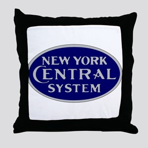 New York Central System logo - blue Throw Pillow