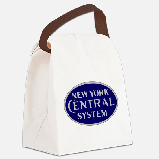 New York Central System logo - bl Canvas Lunch Bag