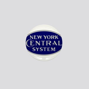 New York Central System logo - blue Mini Button