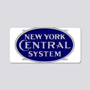 New York Central System log Aluminum License Plate