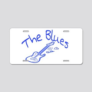 The Blues Aluminum License Plate