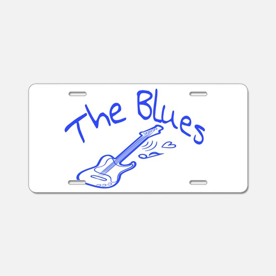 The Blues Aluminum License Plate