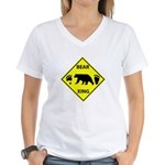 Bear and Tracks XING Women's V-Neck T-Shirt