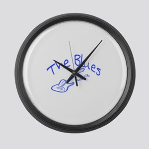 The Blues Large Wall Clock