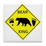 Bear and Tracks XING Tile Coaster