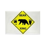 Bear and Tracks XING Rectangle Magnet (10 pack)