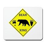 Bear and Tracks XING Mousepad