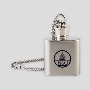 Baltimore & Ohio Railroad- Modern Flask Necklace