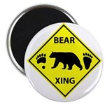 Bear and Tracks XING Magnet
