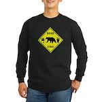 Bear and Tracks XING Long Sleeve Dark T-Shirt