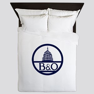 Baltimore & Ohio Railroad- Modern Queen Duvet