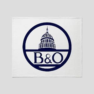 Baltimore & Ohio Railroad- Modern Throw Blanket