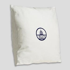 Baltimore & Ohio Railroad- Mod Burlap Throw Pillow