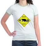 Bear and Tracks XING Jr. Ringer T-Shirt
