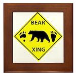 Bear and Tracks XING Framed Tile