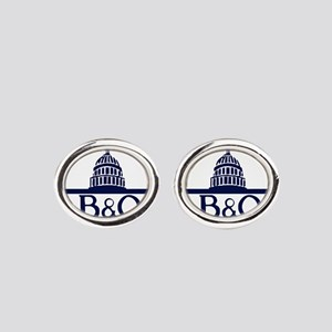 Baltimore & Ohio Railroad- Modern Oval Cufflinks